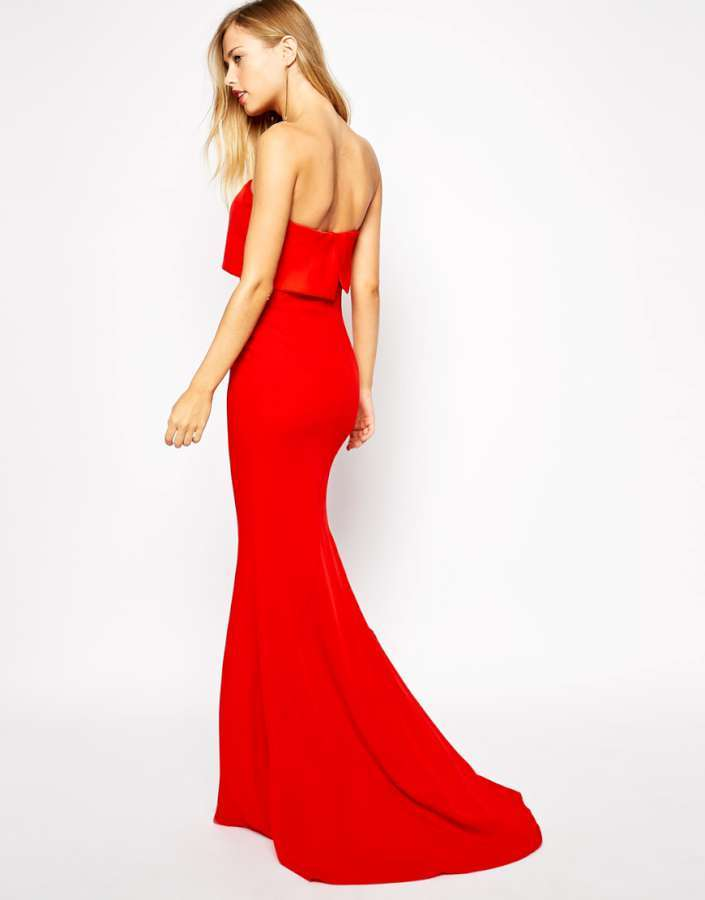 2015 Dress Models Red Back View Fashion And Women