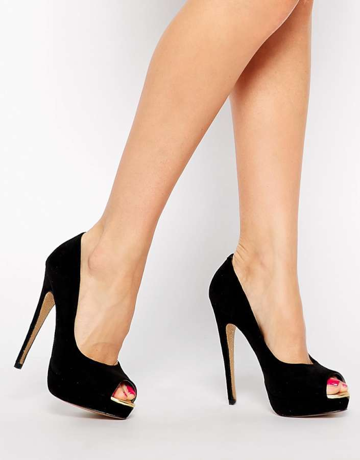 Black Platform Heels Cheap | Suede Pumps Under 100 Bucks | Cute Suede Wedge Shoes for