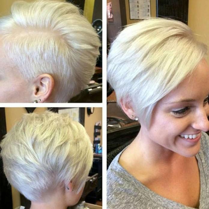 Асимметричная стрижка на короткие волосы сзади
