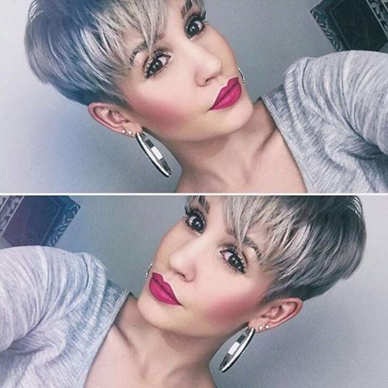 Short Hairstyle Grey 2016 Fashion And Women
