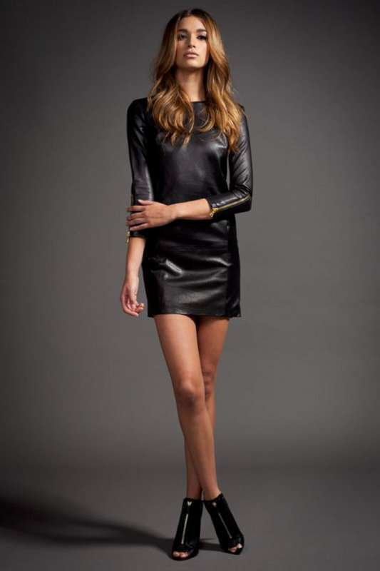 Black Leather Dress 2015