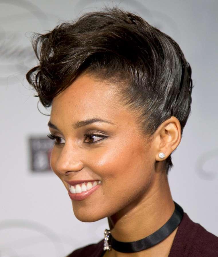 Alicia keys short haircuts