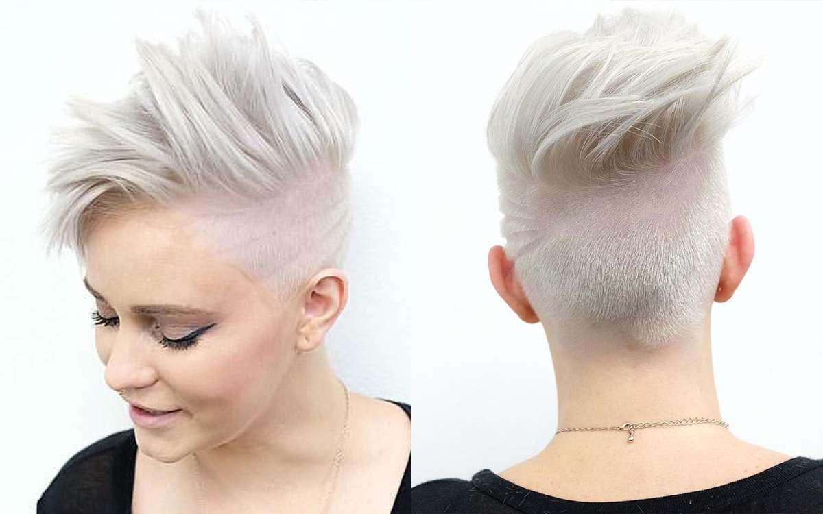 Short Hairstyles White Hair Fashion And Women