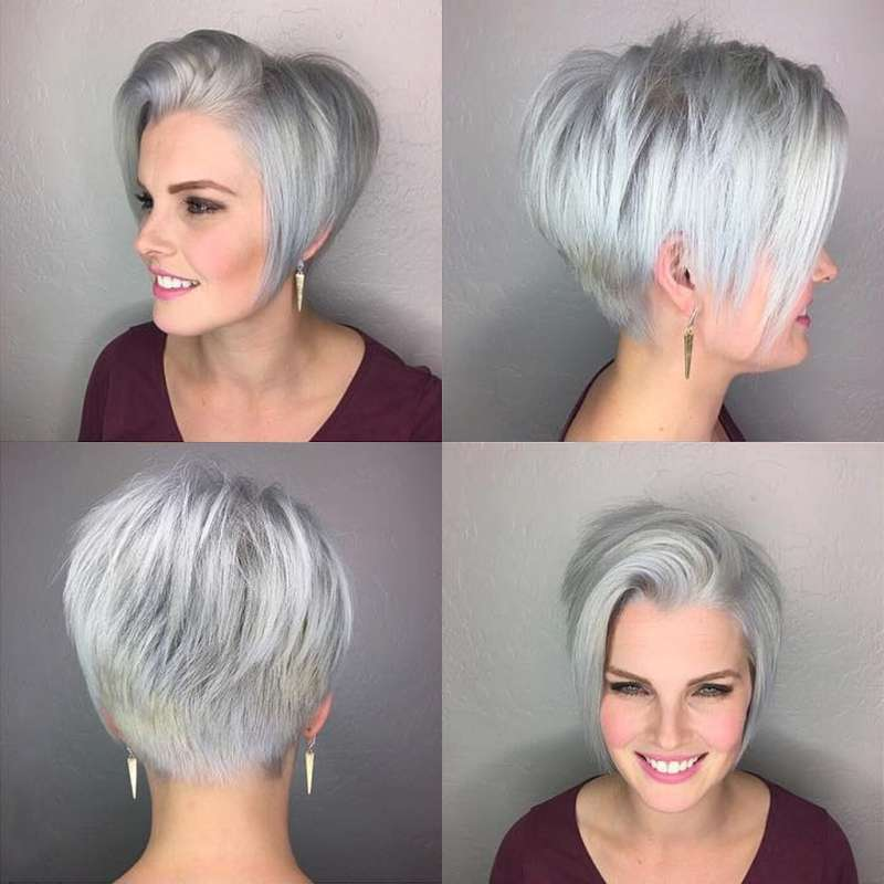 Short Hairstyle Grey 2017 4 Fashion And Women