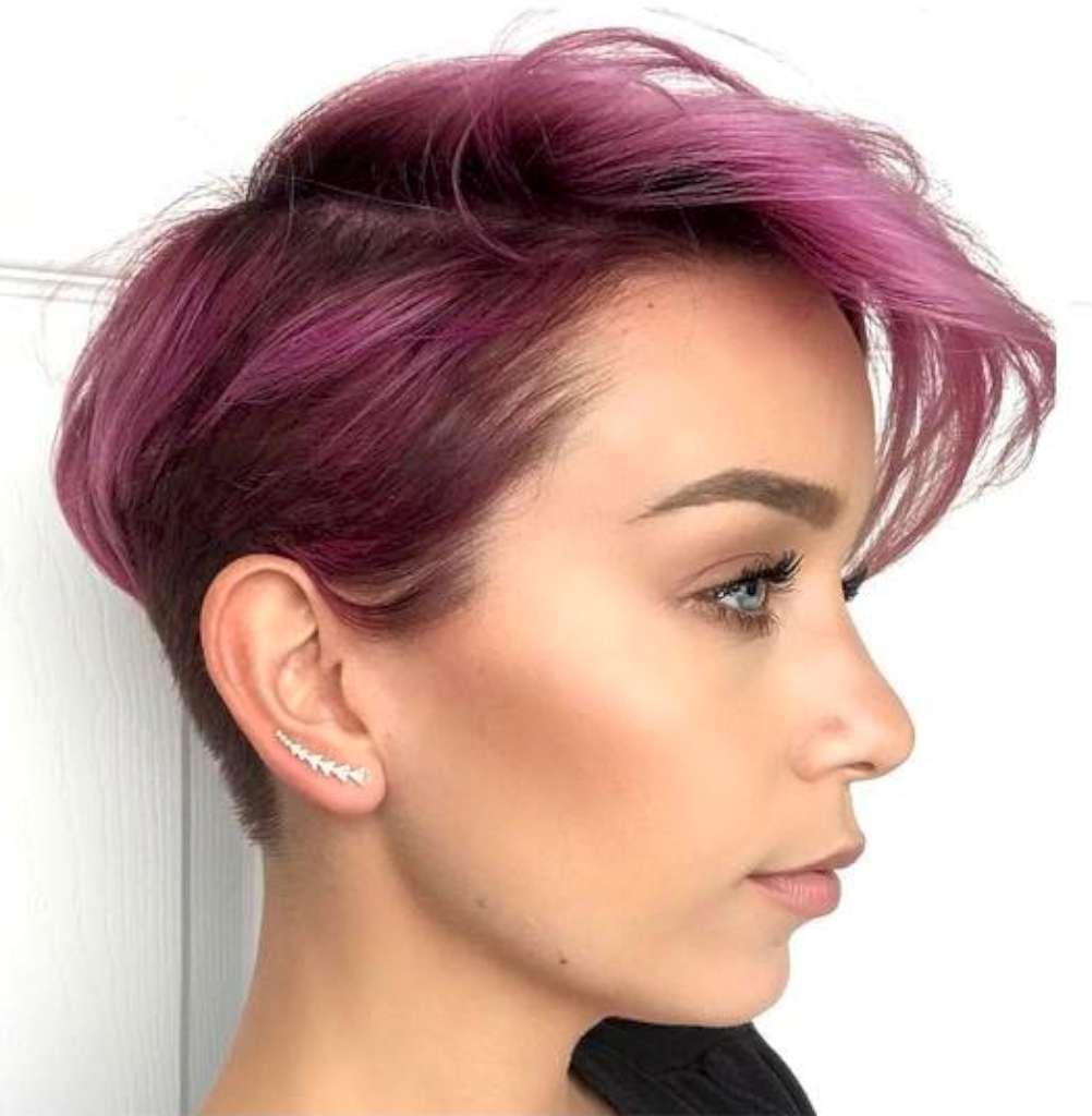 Short Purple Hairstyles 2017 - 1