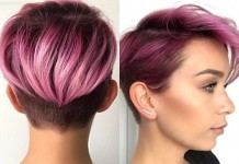 Short Purple Hairstyles 2017