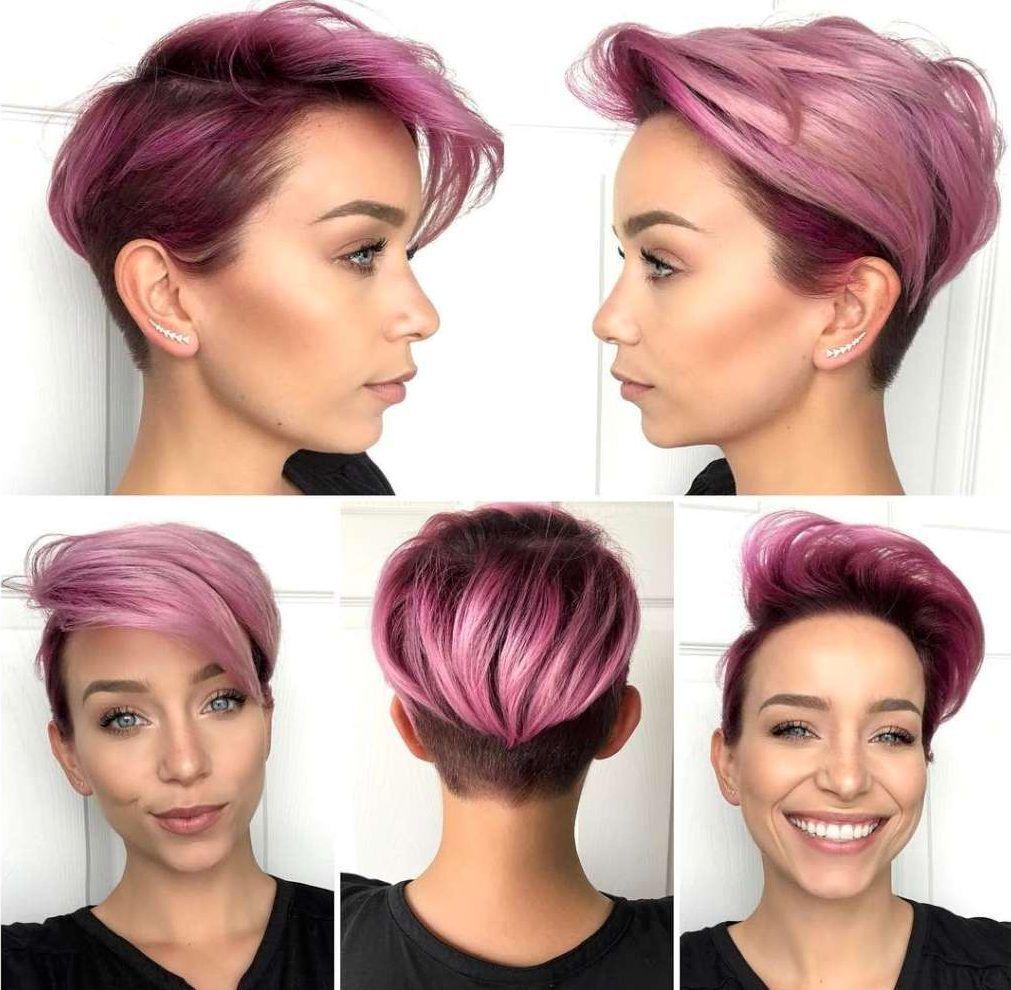 Short Purple Hairstyles 2017 - 7