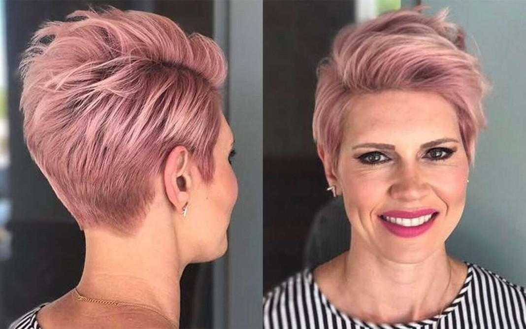 Short Haircuts Pink 2017 Fashion And Women