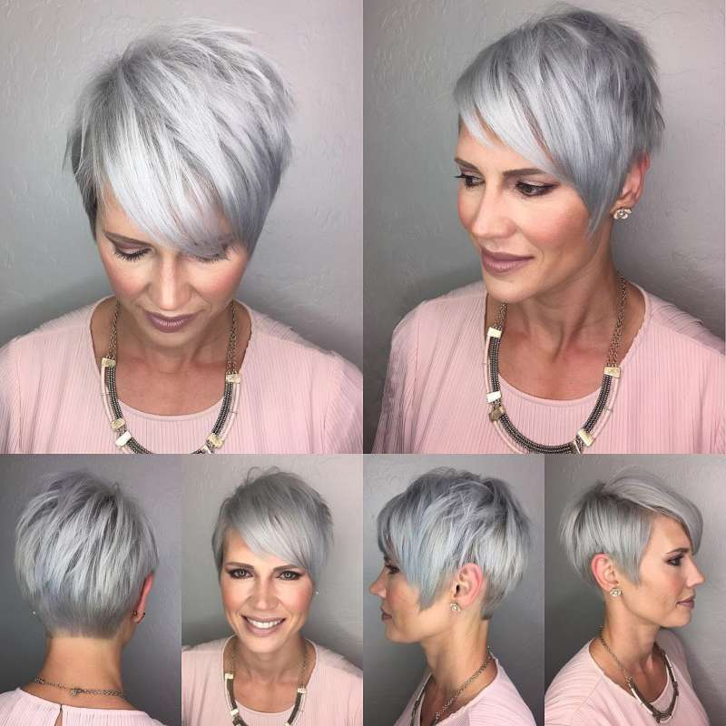 Short Hairstyle Grey Hair 10 Fashion And Women