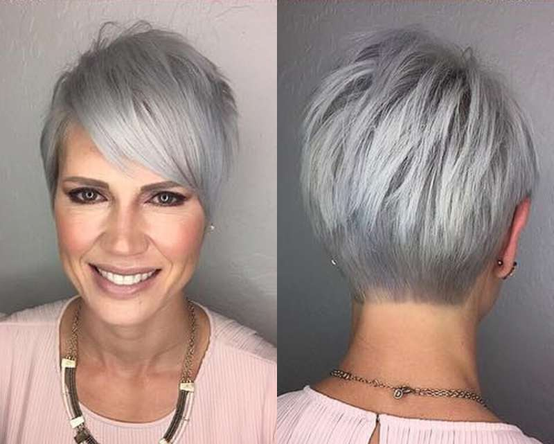 Short Hairstyle Grey Hair 9 Fashion And Women