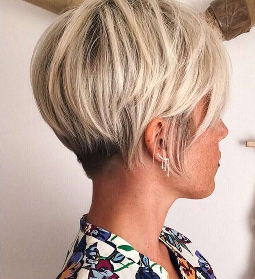 Short hairstyle 2018 4 fashion and women - Coupe femme blonde ...